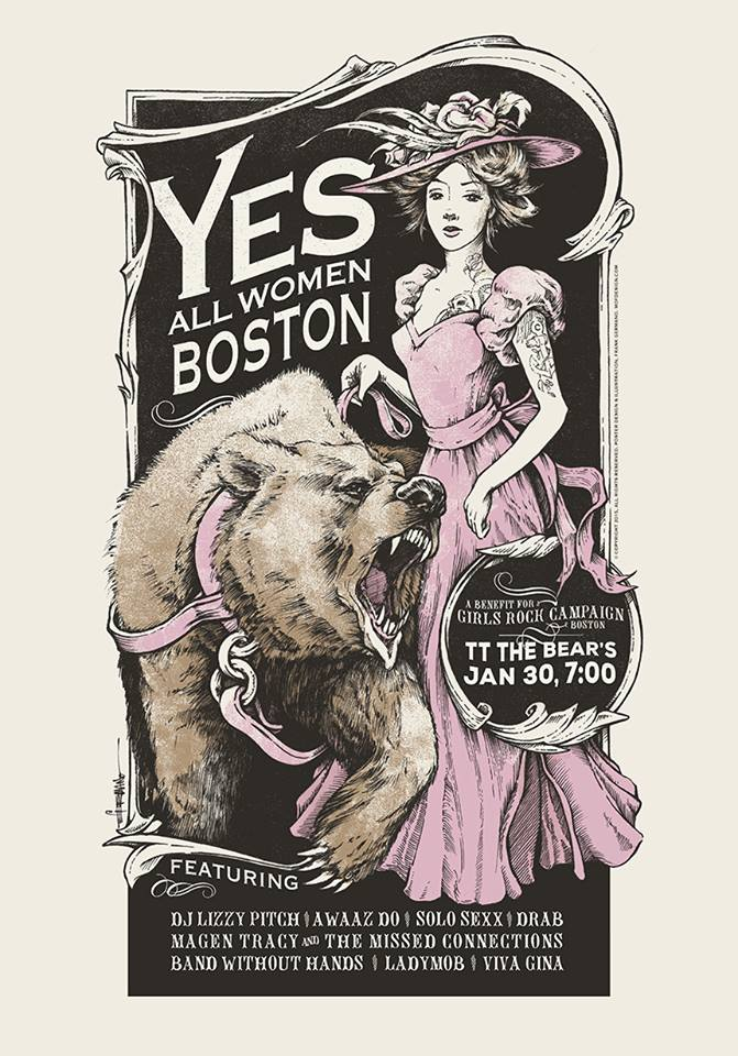Yes All Women Boston Show Poster